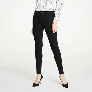 Ann Taylor Performance Stretch Skinny Jeans Black